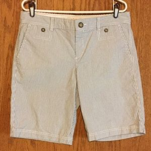 Dockers Pants - NWOT Dockers Blue and White Striped Shorts