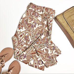 Zara Woman Skinny Paisley Print Trousers