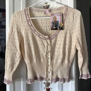 Betsey Johnson pointelle knit cardigan