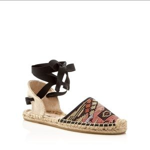 Soludos Shoes - Soludos classic raffia lace up espadrille flats
