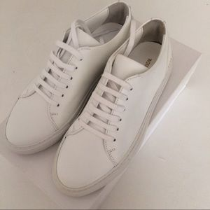 Common Projects Shoes - Common projects 37 White Leather Sneakers Authen