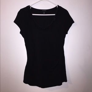 Whbm black v neck shirt
