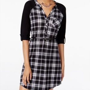 Ultra Flirt Dresses & Skirts - Juniors Plaid dress as L lace back
