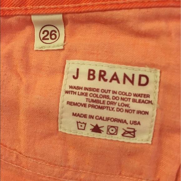 56 off j brand denim sale j brand cutoff short 1046 bright orange from adriana 39 s closet on. Black Bedroom Furniture Sets. Home Design Ideas