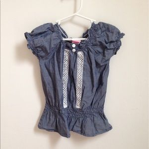 Nanette Baby Other - Blue peasant Top