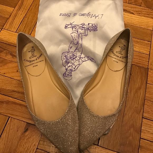 b9656352427bc L''Artigiano di Brera Shoes | Lartigiano Di Brera Sparkly Flats ...