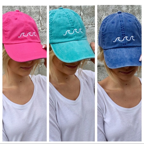 fc08eea553d 1 hr SALE- RESTOCKED! 5 colors-Waves Baseball Cap