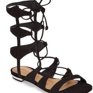 SCHUTZ Shoes - Schutz Erlina Black Suede Glafiator Sandals