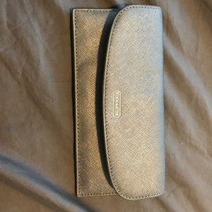 Silver coach slim wallet