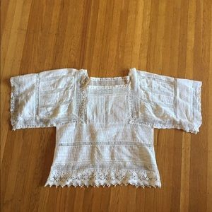 White Zara bohemian blouse