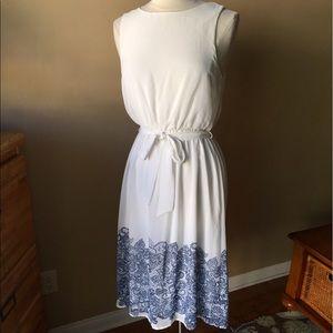 Everly Dresses & Skirts - Everly white Blue Dress