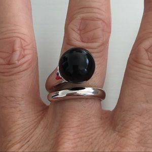 Jewelry - Sterling Silver Statement Black Onyx Ring