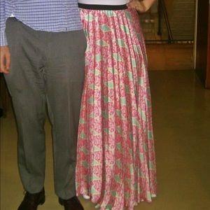 Tucci Dresses & Skirts - Tucci Designer Pink Patterned Evening Silk Skirt