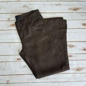 {GAP} Chocolate Brown Linen Wide Leg Pants Size 12
