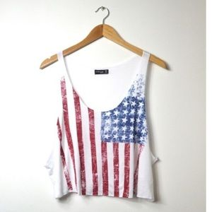 Tops - USA cropped top!