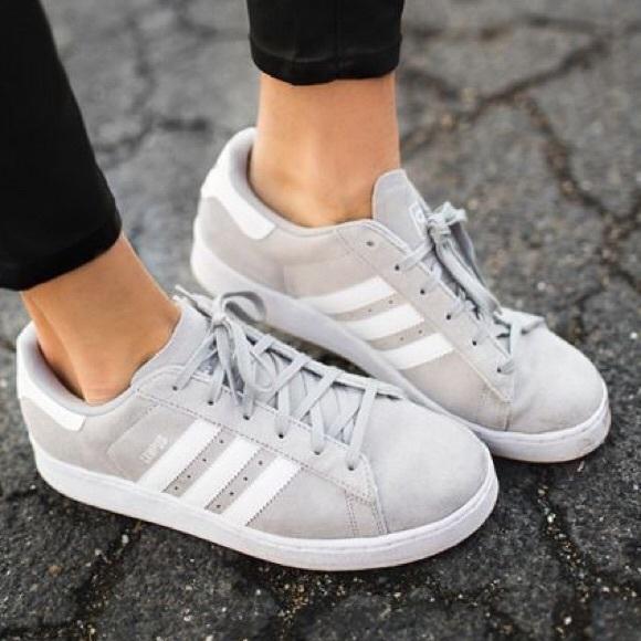 Grey Adidas Campus size 9 Women's