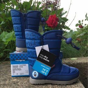 Thomas & Friends Other - NWT Thomas & Friends Blue Puff Boots Faux Fur sz 7