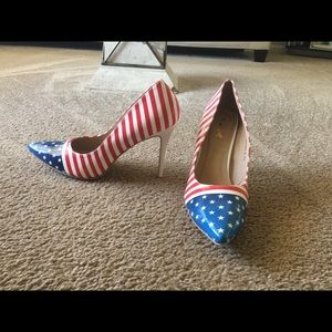 Shoes - Red white blue an u..