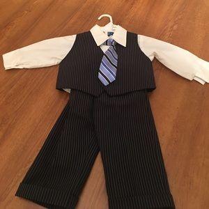 happy fella Other - 4 piece suit set. Navy blue pinstrip 12 monthsNWOT