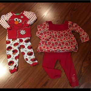 Sesame Street Other - Lot of 4pcs 24M girls outfits