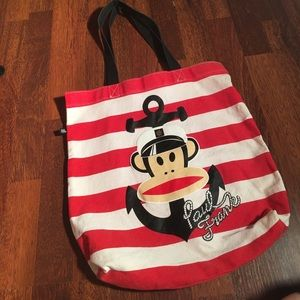 Paul Frank Handbags - Paul Frank Nautical Monkey Canvas Tote anchor