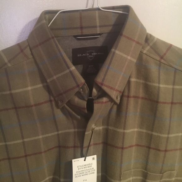 63 off black brown 1826 other nwt light brown plaid for Brown and black plaid shirt