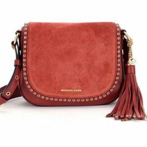 Michael Kors Handbags - Michael Kors Brooklyn Medium Suede Leather Bag