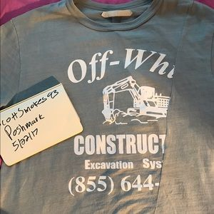 Off-White Other - Off White Construction tee