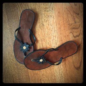 Coach floral sandals