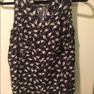 Ark & Co Tops - [Ark & Co] Cat Print Button Down Tank