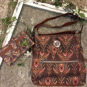 """RELIC Handbags - """"RELIC"""" Peacock Feather Bag"""
