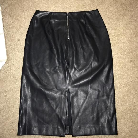 56 zara dresses skirts black faux leather zara