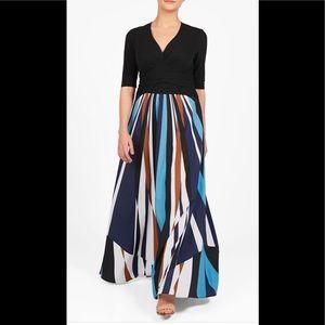 eshakti Dresses & Skirts - New Eshakti Mixed Media Striped Maxi Dress 26W