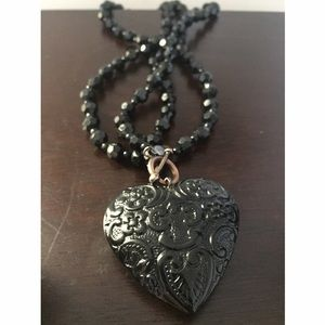 Cookie Lee Jewelry - Black Heart Necklace