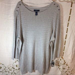 Karen Scott Sweaters - Karen's Scott grey sweater nwt