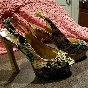 Wild Pair Shoes - Multi color platforms