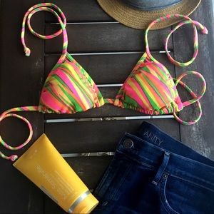 Other - Neon Triangle Bikini Top
