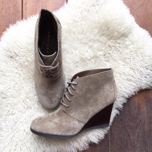 c49ff9c24ba8a Franco Sarto Shoes -  Franco Sarto  Weston Suede Desert Wedge Booties 7