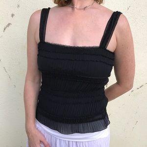 Studio M Tops - 🎈4/$25 STUDIO M BLACK tank top lace blouse M