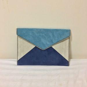 Rebecca Minkoff Handbags - Rebecca Minkoff Leo Color Block Suede Clutch