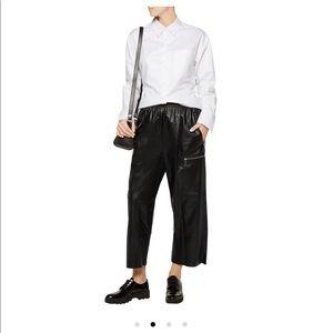 Maison Martin Margiela Pants - MM6 Margiela faux leather cropped pants