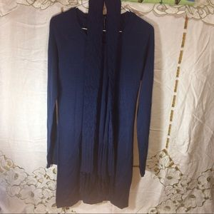 Energie Dresses & Skirts - Energie blue sweater dress with scarf nwt