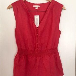 NWT Banana Republic sleeveless blouse, size XS