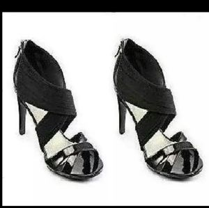 Studio Paolo Shoes - Black peep Toe Women's Shoes. Size 12