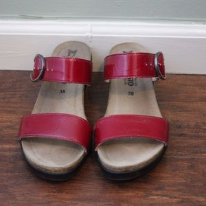 Mephisto Shoes - Red Mephisto Sandals