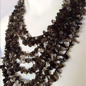 Barneys New York Jewelry - Barneys$987 SMOKEY TOPAZ Statement Toggle Necklace