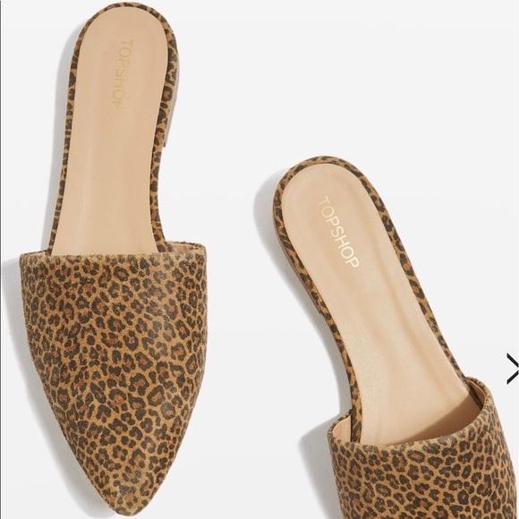 b8f7a6f2f14a Topshop Shoes   Angelina Flat Cheetah Print Mule   Poshmark