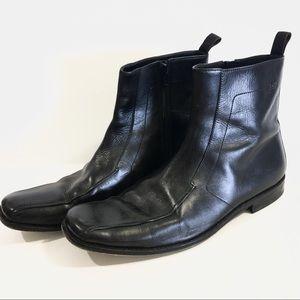 Hugo Boss Shoes - Hugo Boss Black Zip Dress Ankle Boot Square