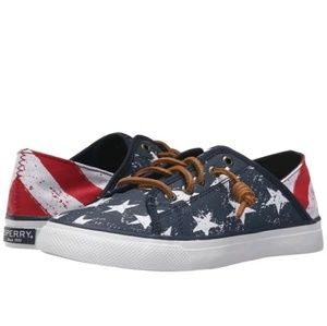 Sperry Top-Sider Shoes - Sperry Seacoast Isle Stars & Stripes?sneakers NWOT