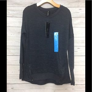 Active Life Sweaters - Active Life Charcoal Fitness Sweater Size Large